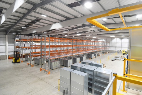 Providing mezzanine floors, shelving and racking